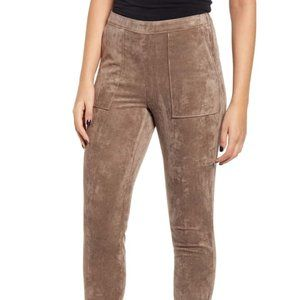 Blank NYC Faux Suede Leggings Taupe 29